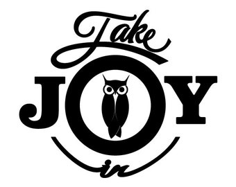 Take Joy In Owls Decal