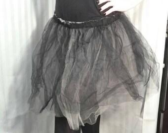 Black Cream Tulle Tutu medium 28 to 44 inch wide