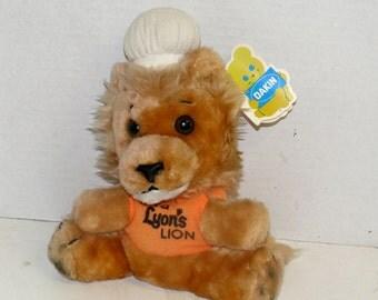 Lion Plush Toy - 1979 Lyon's Restaurant Promotional-  - Dakin - Collectible