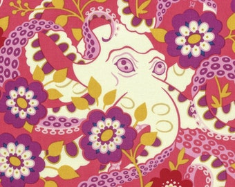 Octopus' Garden Coral Heather Bailey Free Spirit Fabric 1 yard