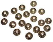 Gold color acrylic spacer beads 4x12mm donut beads  20pcs