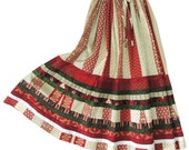 Striped Gypsy Country Patchwork Skirt