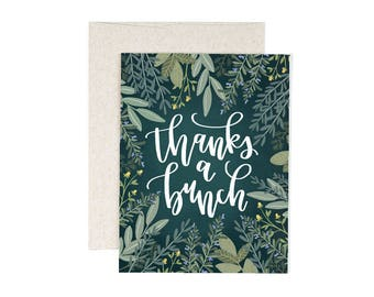 Thanks a Bunch Illustrated Card - Boxed Set of 8 // 1canoe2