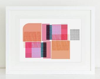 Quadretti - abstract wall art print