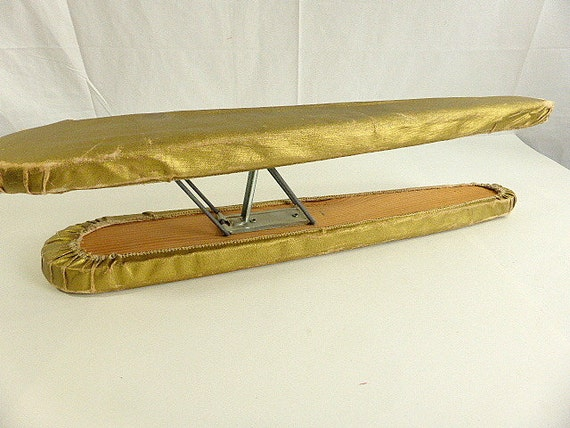 vintage table top folding sleeve ironing board two sizes gold. Black Bedroom Furniture Sets. Home Design Ideas