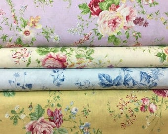 FQ ~ Half Yard ~ 3/4 Yard ~ By the Yard  ~ Roses ~ Rococo & Sweet Spring Collection ~ 4 colors ~ 31360, Lecien Cotton Quilt Fabrics