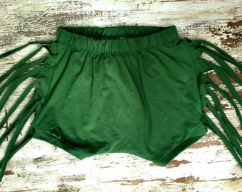Fringe Shorts - Green