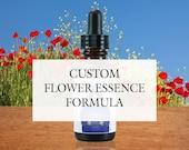 Custom Flower Essence Formula, Organic, Reiki-Infused North American and Bach Flower Remedy