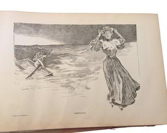 Gibson Girl Book | Vintage Illustrations to Frame | 1906 Fashion Prints | Edwardian Lifestyle Views