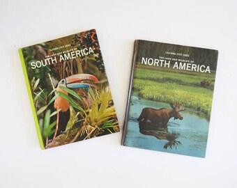 Nature Coffee Table Books // 1960's NonFiction Nature Book Set // Vintage Home Decor