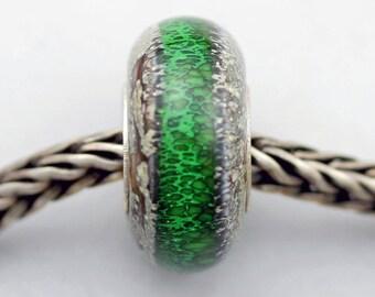 Old Earth Green - Classic Remake - (OE) - Artisan Glass Charm Bracelet Bead - (MH-58)