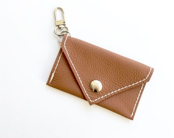 Credit Card Pouch - Mini Wallet - Genuine Leather- Cork Brown