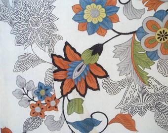 Vintage haori S414,  off white base, floral design, yuzen