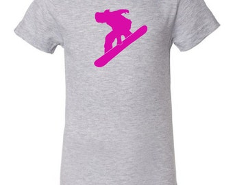 Kid's snowboarder t-shirt - MORE COLORS AVAILABLE