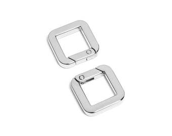 "10pcs - 9/16"" Square Gate-Ring- Nickel - Free Shipping (GATE RING GRG-200)"