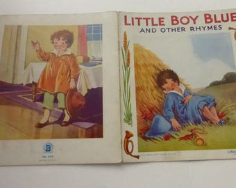 Antique Little Boy Blue and Other Rhymes by Sam'l Gabriel Sons Linette Children's Book