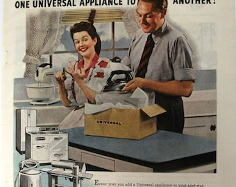 App 158  Universal Electrical Appliances    Magazine Ad - October 1944