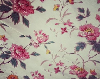 Pretty Vintage Floral Cotton French  Fabric