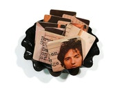 BRUCE SPRINGSTEEN recycled Darkness on the Edge of Town album cover wood coasters and record bowl | The Boss