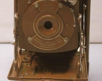 Vintage  Brown No. 1 Pocket Kodak Junior Folding Camera for Display 1929-1932