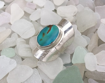 Turquoise Saddle Ring- Ready to ship