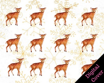 Pocket Speckled Fawns Travelers Notebook Digital Cover Printable