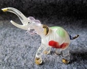 Unique Elephant Art Glass Animal Figurine,Elephant Figurine Collector,Glass Figurine,Elephant figurine,Wild Animal,Zoo,Elephant Glass