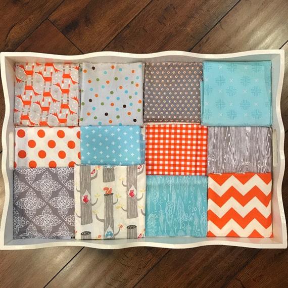 Boy's Orange Fox Quilt Made to Order