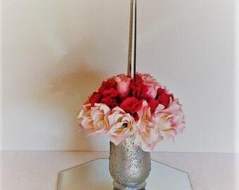 Wedding centerpiece candle Wedding Flower Decoration Centerpiece wedding table decoration silk flower centerpiece silk flower arrangement