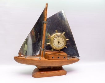 Large sailboat clock - beautifully made - United Self Starting