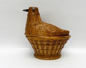 Vintage bird basket