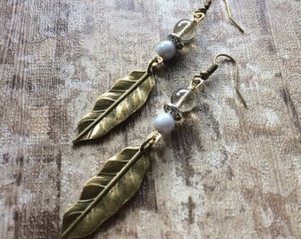 ANCIENT FEATHERS antiqued brass vintage inspired wirework