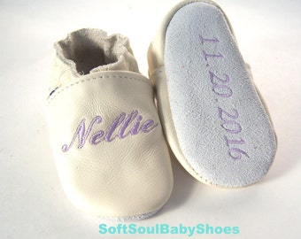 Christening shoes Ivory,  christening shoes,leather baptism shoes, dedication shoes,baptism shoes