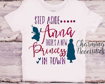 Princess Anna Glitter Shirt, Baby Toddler Girl Clothes, Coming Home, Baby Shower Gift, Frozen Inspired Glitter Top, Charming Necessities
