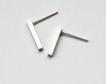 Silver Bar Stud Earrings, Bar Studs, Bar Stud Earrings, Minimalist Studs, Sterling Silver Studs, Silver Studs, Bar Post Earrings, Silver Bar