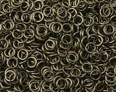 Brass Jump Rings 100 Antique Bronze Unsoldered Closed 6mm OD 18 gauge (1045jum06z1)