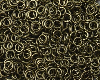 Brass Jump Rings 100 Antique Bronze Unsoldered Closed 6mm 18 gauge (1045jum06z1)