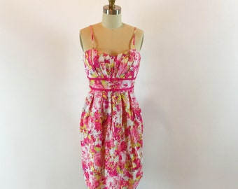"Vintage 90s Summer Dress | Floral Dress | 28"" Waist"