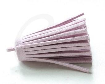 One Piece of Faux Suede - Velvet Cord - Tassels -  45x15mm (B20B)