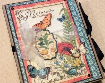 Mother's Day Gift, Nature Scrapbook Journal Album, PREMIUM Scrapbook, Mini Album, Graphic 45 Scrapbook, Photo Album Journal