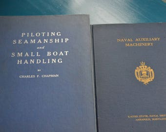 Two Vintage Naval Books, Hard Cover, published 1952, Good Graphics