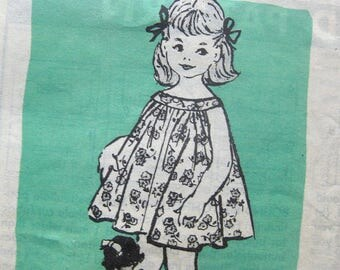 Early 1960s Toddler Summer Dress / Vintage Sewing Pattern / Anne Adams 4822 // Size 2T or Size 4 // Uncut FF