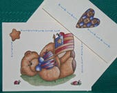 NOTECARDS--Patriotic Bears with Lady Bugs
