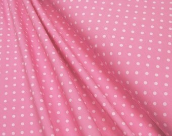 Jersey • Little Darling • white dots on pink •  0.54yd (0,5m) 002976