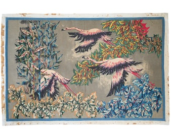 Rare French mid-century modern tapestry by Debieve