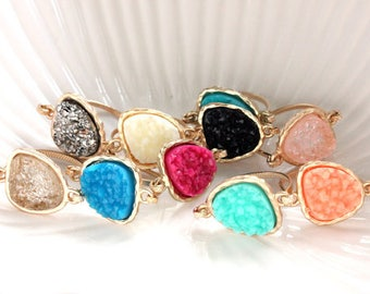 Druzy ring 14kt gold filled - custom size - pick your color
