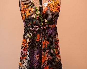 Vintage Dress - Mod Flower Power 60s 70s Neon Mini