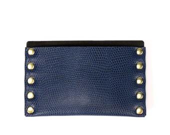 Cobalt Blue Slim Wallet   Thin Wallet   Card Holder   Mens Wallet   Wallet   Simple Wallet   Vegan   Made in USA