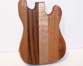Mini Guitar Cutting Board Handcrafted from Mixed Hardwoods