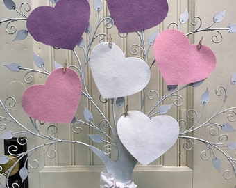 Large Hearts, Felt Hearts, Wool Felt Crafts, Valentine Project, Applique, Die Cut Shapes